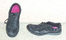 Women's black Skechers memory foam sneakers / shoes , sz 10