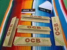 5 unos cuantos folletos OCB Organic Hemp Long slim cuaderno à 32 Papers papeles + 100 filtros