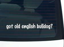 got old english bulldog? Dog Breed Funny Car Decal Bumper Sticker Wall
