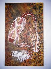 "Rare Original Aboriginal Australian Art Work ""Brolga on Nest"" by Howard Badari"
