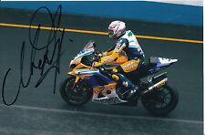 MAX BIAGGI mano firmato ALSTARE SUZUKI RACING foto 9x6 2007.
