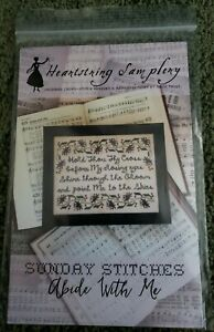 Heartstring Samplery Cross Stitch Sunday Stitches Abide With Me
