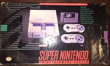 SUPER NINTENDO SYSTEM BOXED, MANUAL, SUPER MARIO WORLD TESTED