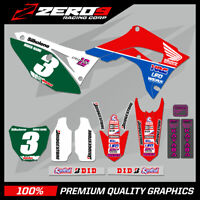 Custom MX Graphics Kit: HONDA CR CRF Motocross Graphics 125-450 / HERRING SILK