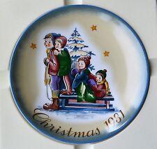 "NEW 1981 Schmid Christmas ""A Time to Remember"" Sister Berta Hummel Porcelain COA"