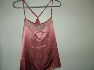 Pink Camisole Top 8 10 Avenue Collection Cream Lace, Silky New with Tags elegant
