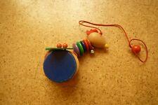 selecta Spielzeug Nachziehtier aus Holz Vogel Hahn