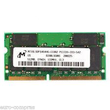 MEMORIA RAM 512MB PC133 133MHZ 144PIN PARA ORDENADOR PORTÁTIL
