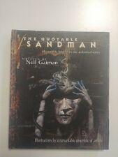The Quotable Sandman by Neil Gaiman - Dcvertigo Comics Hardcover Free Shipping!