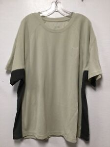 Champion Mens Active Wear Shirt Size XL Beige Gray Short Sleeve New Y5