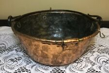 """Antique Hanging Copper 9"""" Pot Hand Forged Handle"""