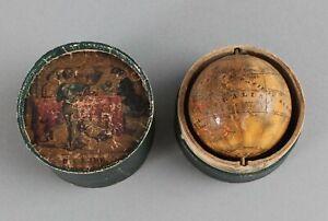 1830s Antique 19thC JG Klinger Nuremberg Germany Miniature Pocket World Globe NR