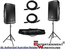 "Pair JBL EON612  1000watt, 12"", Two-Way, Powered Speakers + Stands and Cables"