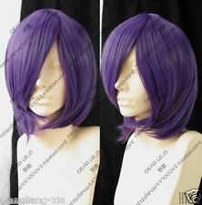 hot Short Dark Purple Cosplay Party Wig + free gift