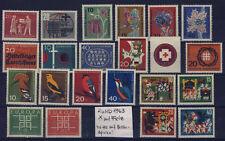 BUND Jg. 1963 Nr. 390-411* kpl mit FALZ! ungebraucht Flora Vögel Wolf 7 Geißlein