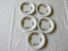 (5) ROSENTHAL GROUP GERMANY CLASSIC ROSE PORCELAIN SAUCERS 5 5/8""