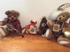 4 Boyds bears 2 small Frazier Yogi 2 Larger Pearls Glasses