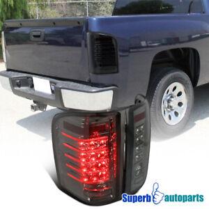 For 2007-2014 Chevy Silverado 1500 2500 LED DRL Smoke Tail Light Brake Lamps