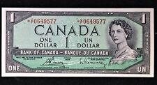 Canada 1954 $1 Bouey/Rasminsky Replacement *C/F in Gem Unc Condition.$70. B101
