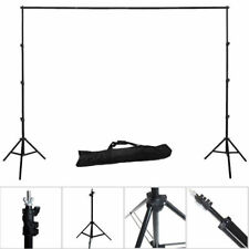 10Ft Photo Studio Backdrop Support Kit Stand Chromakey Background Crossbars