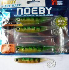 Noeby pêche leurre souple odorant Minnow drop shot 11,5cm 5,4g couleur Perch