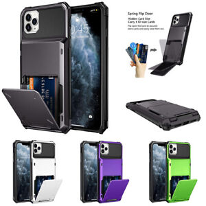 Card Holder Shockproof Heavy Duty Case Cover for iPhone 13 Pro 12 11 XR 8 7 6S 5