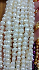 """5-6mm Multicolor Baroque South Sea Pearl Loose Beads Gemstones 15 """"-White"""