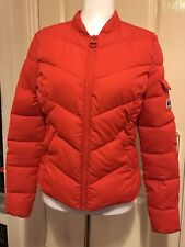 Diesel Red Winter Jacket As New Light And Warm , Biker Style Amazing On