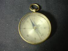 Old Vtg Antique Collectible Brass Handheld Compass
