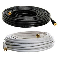 50 ft RG59 Coaxial Cable Gold Plated Connector Digital Satellite AV TV VCR BU-26