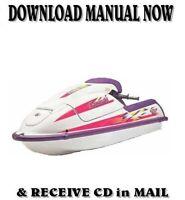 Kawasaki Jet Ski J Series factory repair shop service manual on CD ( 1992-98 )