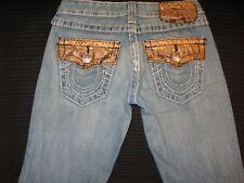 True Religion Womens Joey Jeans Brown Python Snake 100% Cotton Sz 25