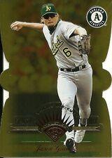 1997 Leaf Fractal Matrix Die Cut Gold Jason Giambi 137 Athletics