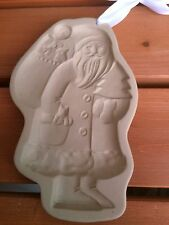 Brown Bag Cookie Art Mold Angel Santa Claus 1983 Hill Design Christmas New