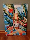 "Corona Light Embossed Tropical Scene Metal Tin Beer Sign -  24"" x 17"""