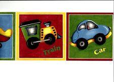 KIDS TRANSPORTATION BOAT PLANE TRAIN CAR WALLPAPER BORDER  FP00591