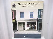 Mumford & Sons Sigh No More Sheet Music Song Book Songbook Guitar Tab Tablature