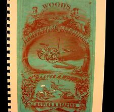 1871 Walter A.Wood Harvesting  Machinery  Annuual Sales Book Combined Shippining