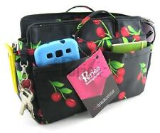 "Periea Handbag Organiser Insert - 12 Compartments - ""Ria"" Black & Red Cherries"
