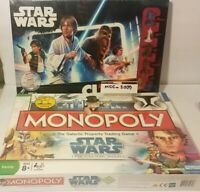 Clue Star Wars Edition Board Game (2015) & Monopoly Star Wars The Clone Wars NEW