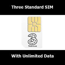 Three G - 3G - Sim Card For All Smart Phones - 3 Network Trio SIM STD Micro Nano