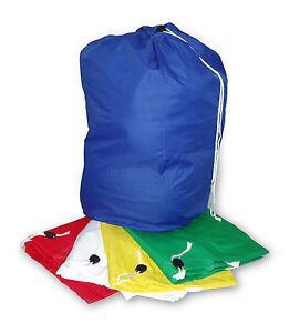 XL Heavy Duty Bag Sack with Drawstring Commercial Style Draw Cord Washing