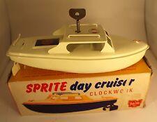 Sutcliffe Toy GB bateau à moteur à clef rare Sprite day cruiser clockwork 23 cm