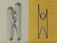 #R24 HUMANISM Religion HAPPY HUMAN Steel HAND STAMP Blacksmiths Silver Metal Die