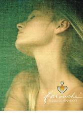 PUBLICITE ADVERTISING  1979   NINA RICCI  parfum FAROUCHE DAVID HAMILTON