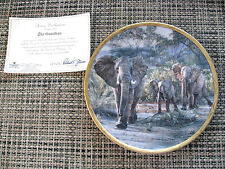 Lenox Simon Combes collector plate The Guardian  #A0667 Three Elephants