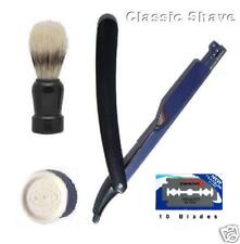 Barber Shave Brush Soap Straight Barber Razor & Blades