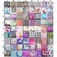 Ladies Square Scarf - Silk Feel Satin Head Neck Decoration Tie Wrap Bandana -NEW