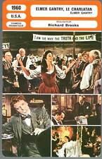 ELMER GANTRY LE CHARLATAN - Lancaster,Simmons,Brooks (Fiche Cinéma) 1960