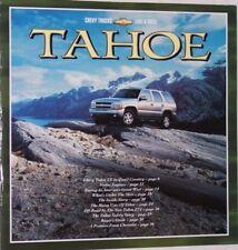 2001 01 Chevrolet Tahoe original sales  brochure  MINT